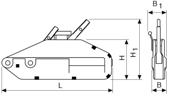 Механизм тяговый монтажный МТТМп-1,6