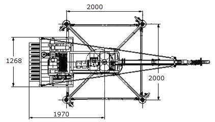 Кран стреловой поворотный КСП-1000 вид сверху
