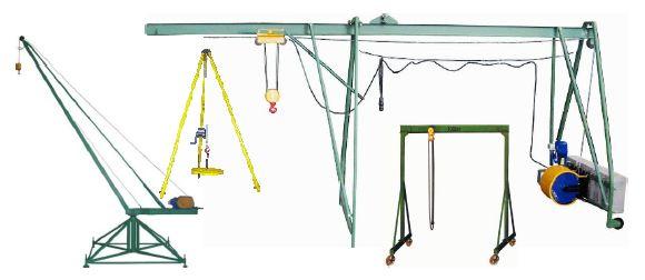 краны, подъемники строительные, треноги, устройства перегрузочные производства СВПК