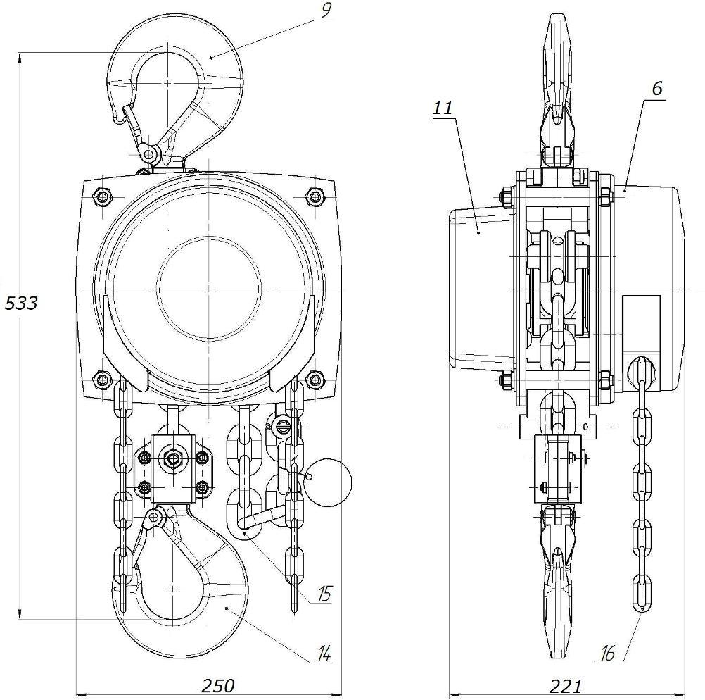 таль стационарная ТРШСМ-3,2  г/п 3,2 тонны