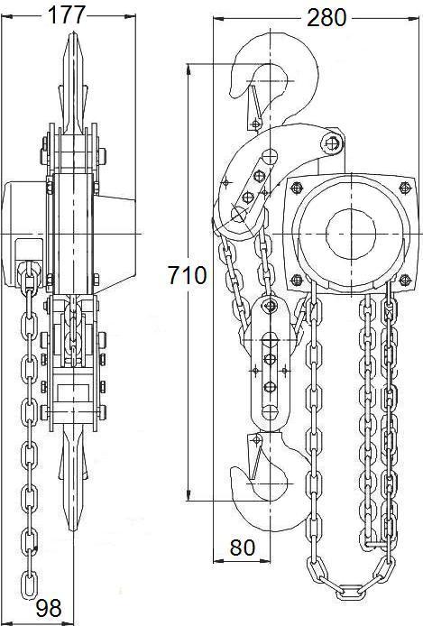 таль стационарная ТРШСп-3,2  г/п 3,2 т