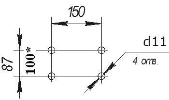 Лебедка ручная ДИНА присоединительные размеры