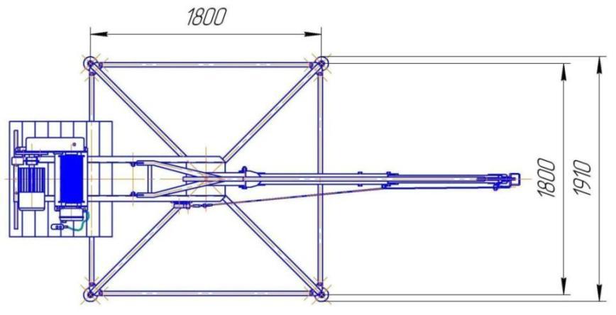 Кран КСП-500 МАСТЕР-2: основные размеры