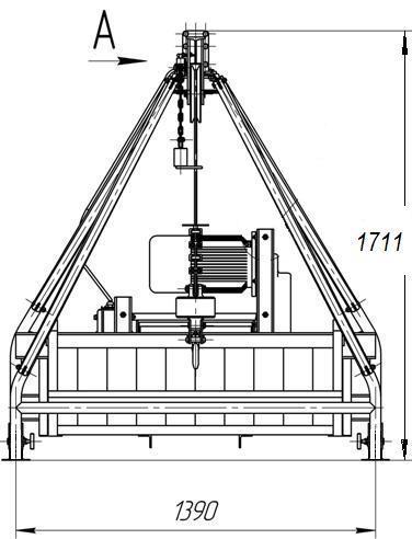 Кран УМЕЛЕЦ-500 схема размеров
