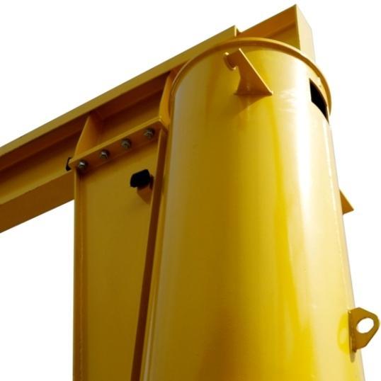консольный кран на колонне
